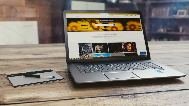 Weergave laptop